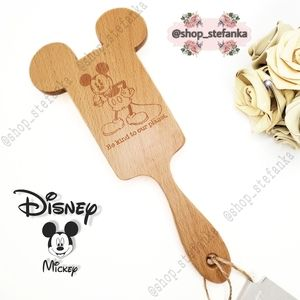 🎁 Mickey Mouse Wooden Paddle Hairbrush 💫